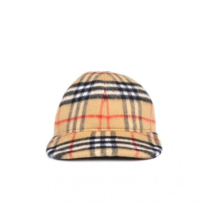 BURBERRY HORSEFERRY BASEBALL CAP 8005287 ANTIQUE YELLOW / CHECK